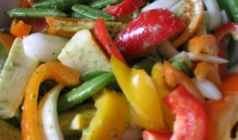 Grilled Summer Veggies in Homemade Garlic Cilantro Marinade Recipe