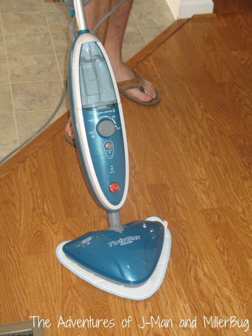 hoover double tank steam mop makes keeping our floors. Black Bedroom Furniture Sets. Home Design Ideas