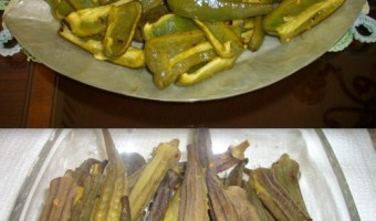 Patti Gail's Culinary Concoctions:  Grilled Peppers and Okra