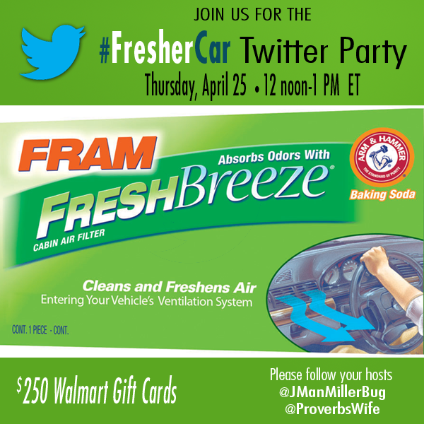 Learn about Getting a Cleaner Car and Win at the #FresherCar Twitter Party! #cbias