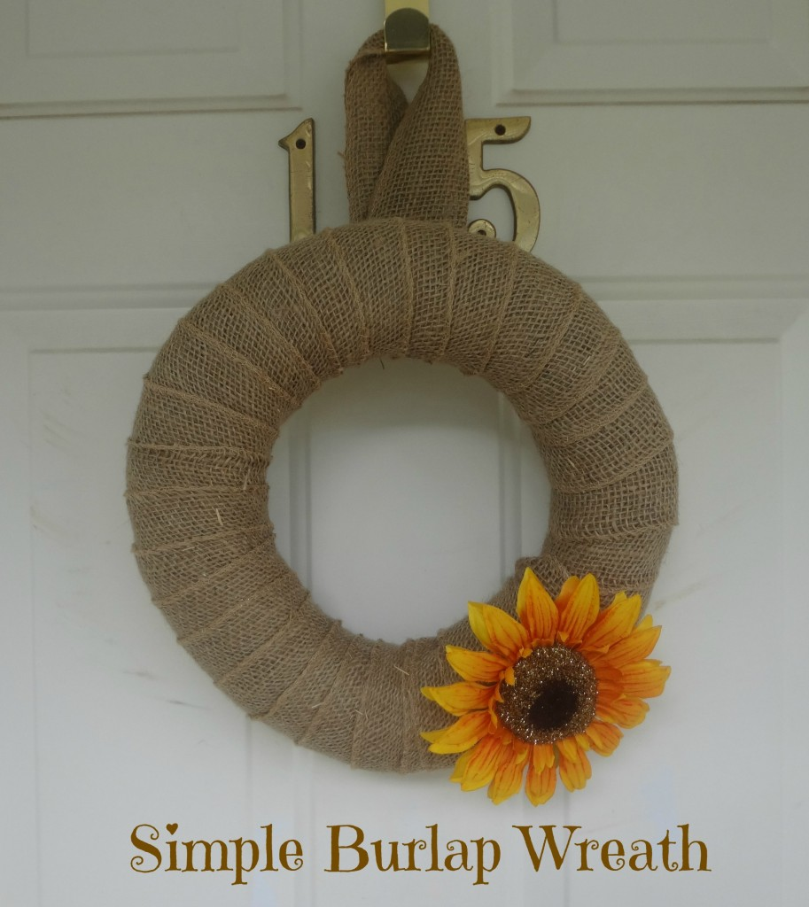 Fall craft easy burlap wreath the adventures of j man for What can i make with burlap