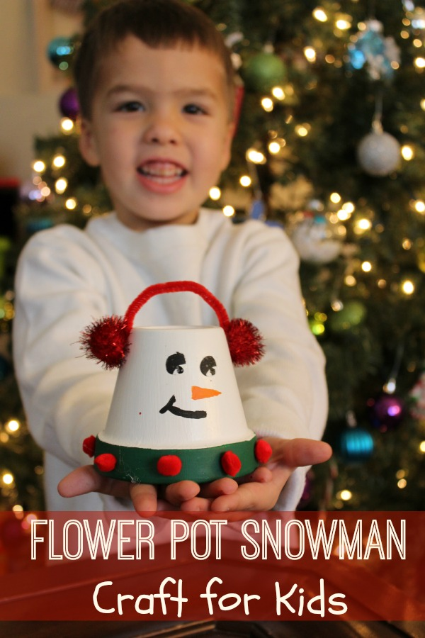 Flower Pot Snowman Craft for Kids