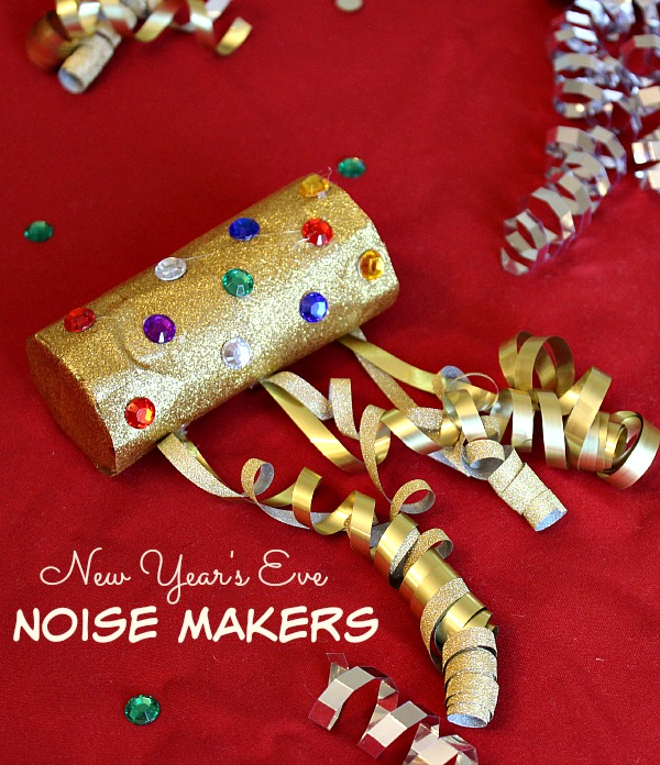 New year 39 s eve noise maker craft for kids the adventures for New year s crafts for preschoolers