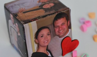 DIY Valentine's Day Picture Cube Craft