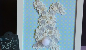 Framed Button Bunny Craft for Easter