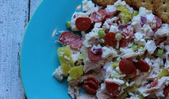 Italian Chicken Salad Recipe with Hormel Pepperoni