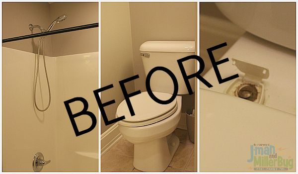 #CraftedEperience #ad Bathroom Before