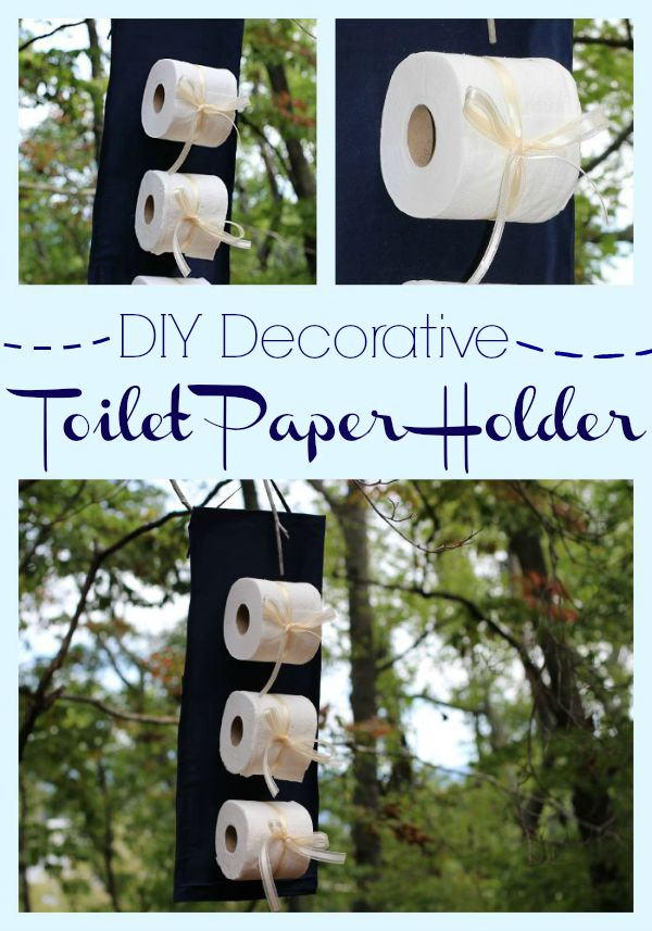 #CraftedExperience #ad DIY Decorative Toilet Paper Holder