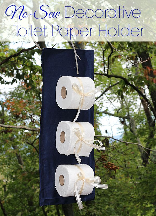 #CraftedExperience #ad No Sew Decorative Toilet Paper Holder