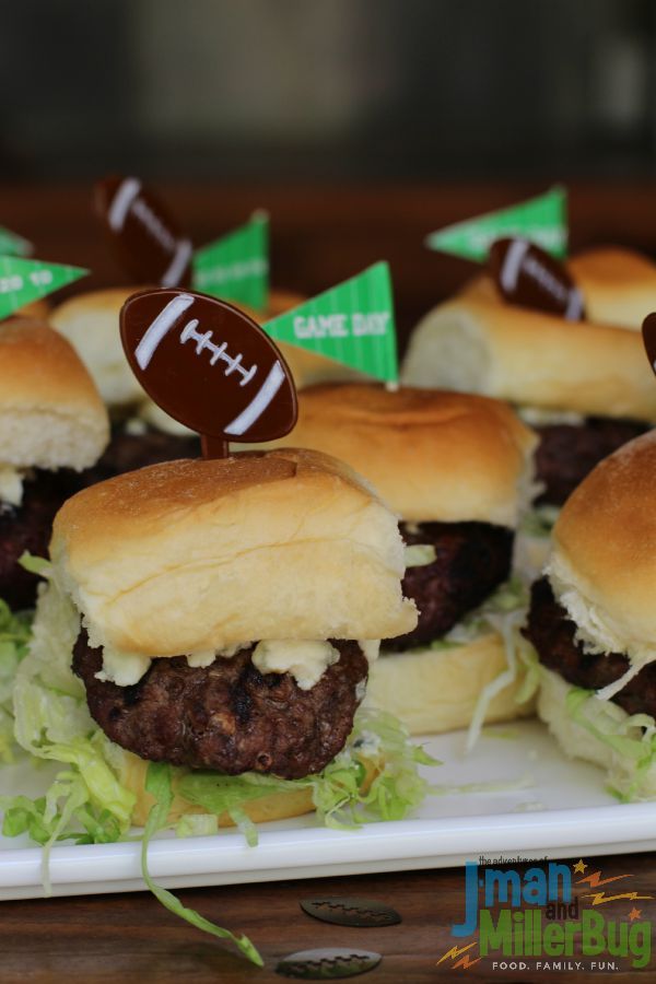 Hot & Spicy Blue Cheese Sliders Recipe - The Adventures of J-Man and ...
