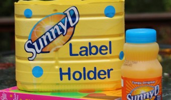 Earn Books for Your Kid's School & an Easy SunnyD Label Holder Craft