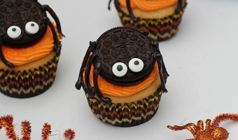 Fanta Halloween Cupcakes with OREO Spiders