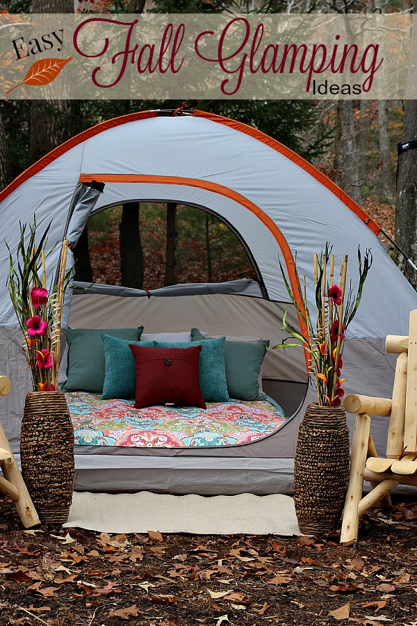 Easy fall glamping ideas the adventures of j man and for Glamping ideas diy