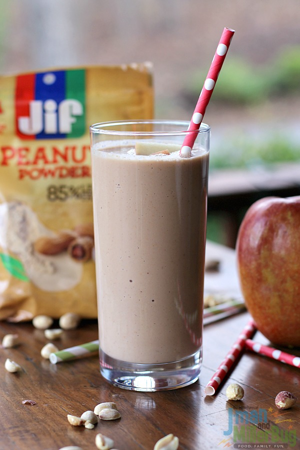 #StartWithJifPowder #ad Apple and Peanut Butter Smoothie Finished 1