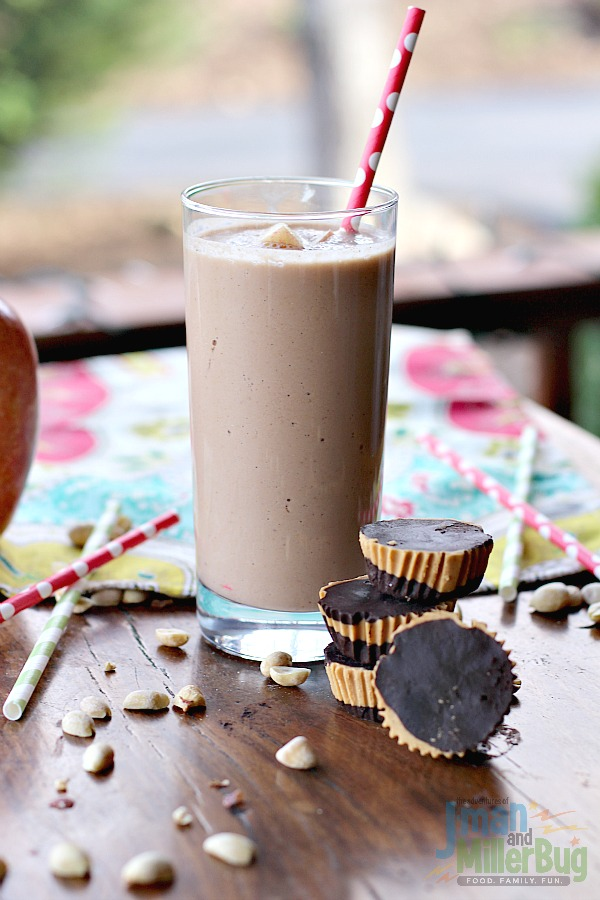 #StartWithJifPowder #ad Apple and Peanut Butter Smoothie and Guilt Free Peanut Butter Cups 4