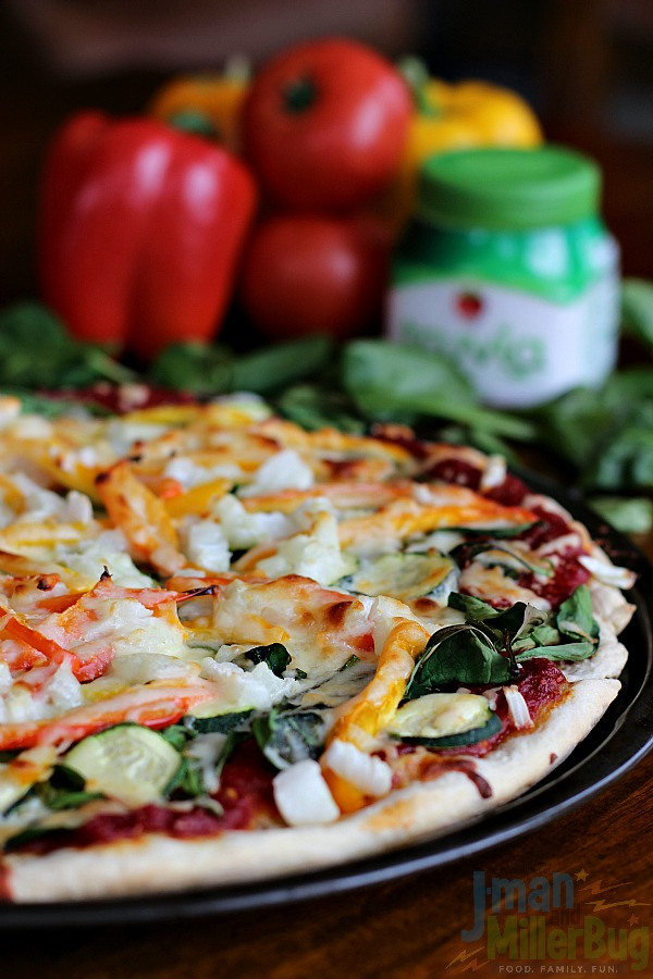 #SweetNewYear #ad Veggie Delight Pizza Final 1
