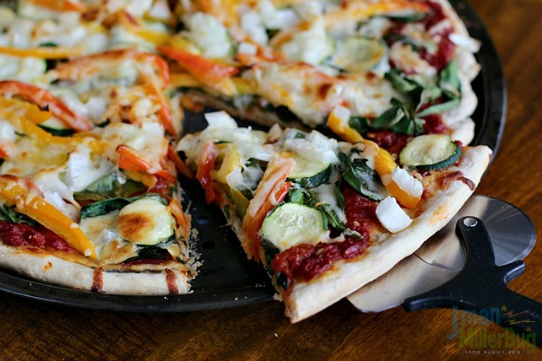 #SweetNewYear #ad Veggie Delight Pizza Final 4
