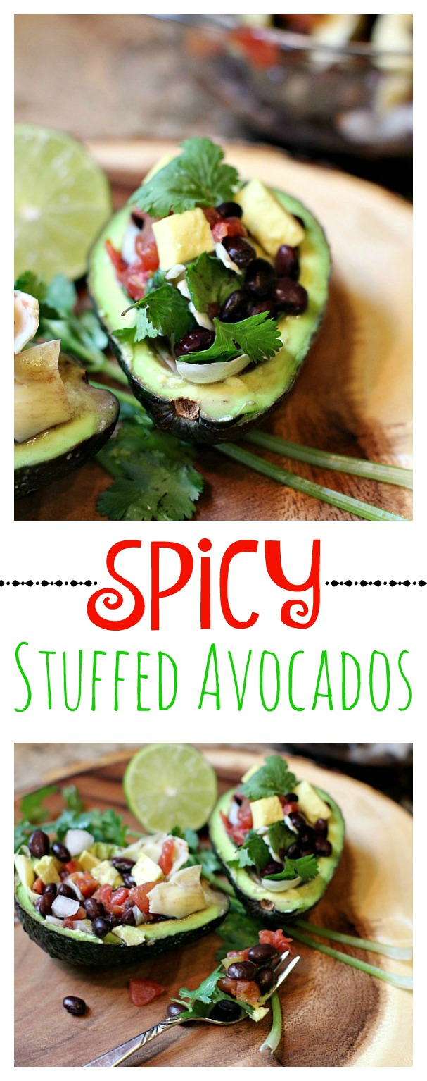 Spicy Stuffed Avocados