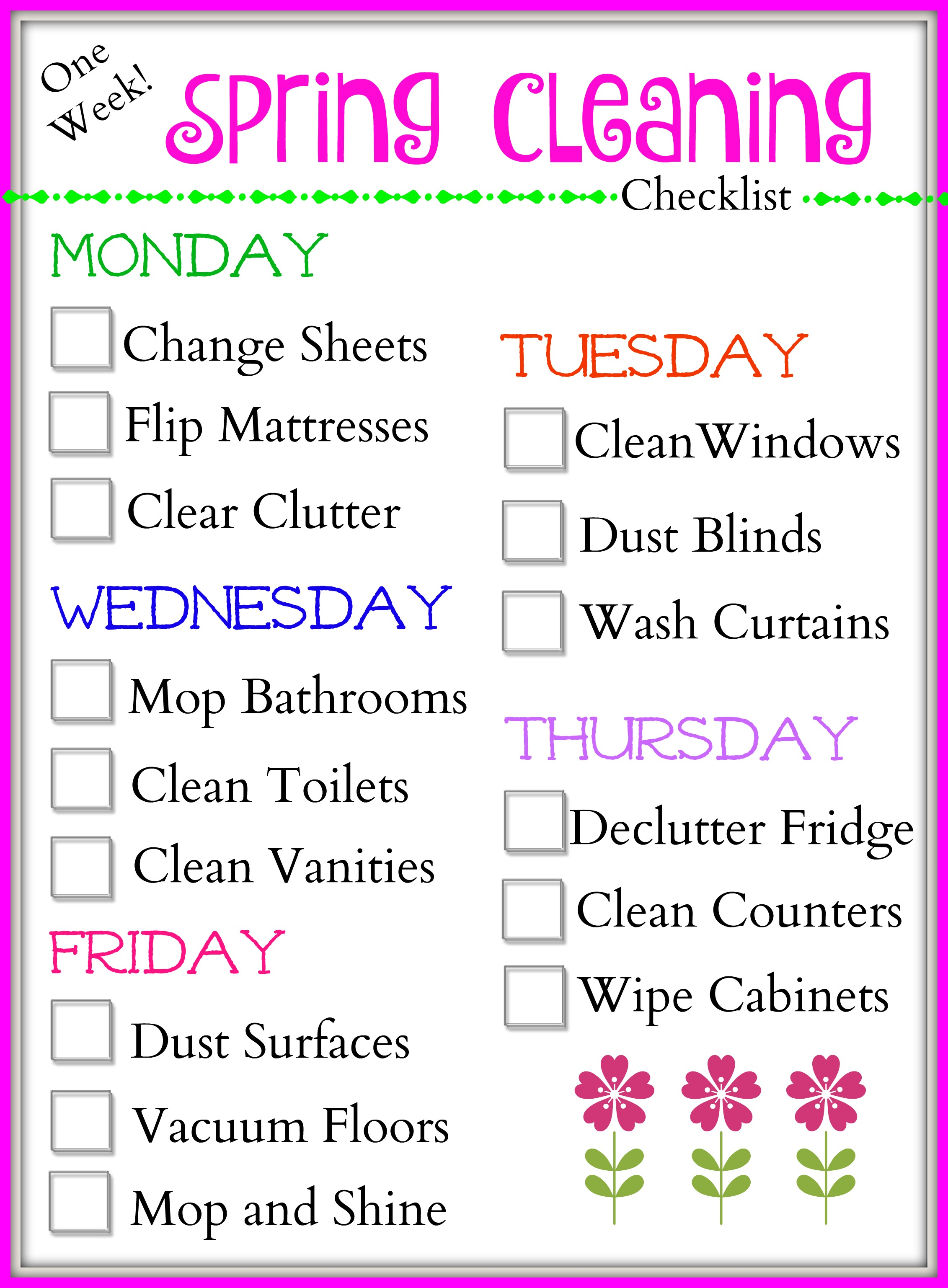 Tips for Cleaning Quickly a Spring Cleaning Checklist The – Sample Spring Cleaning Checklist
