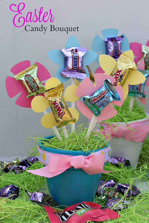 #SweeterEaster #ad Easter Candy Bouquet