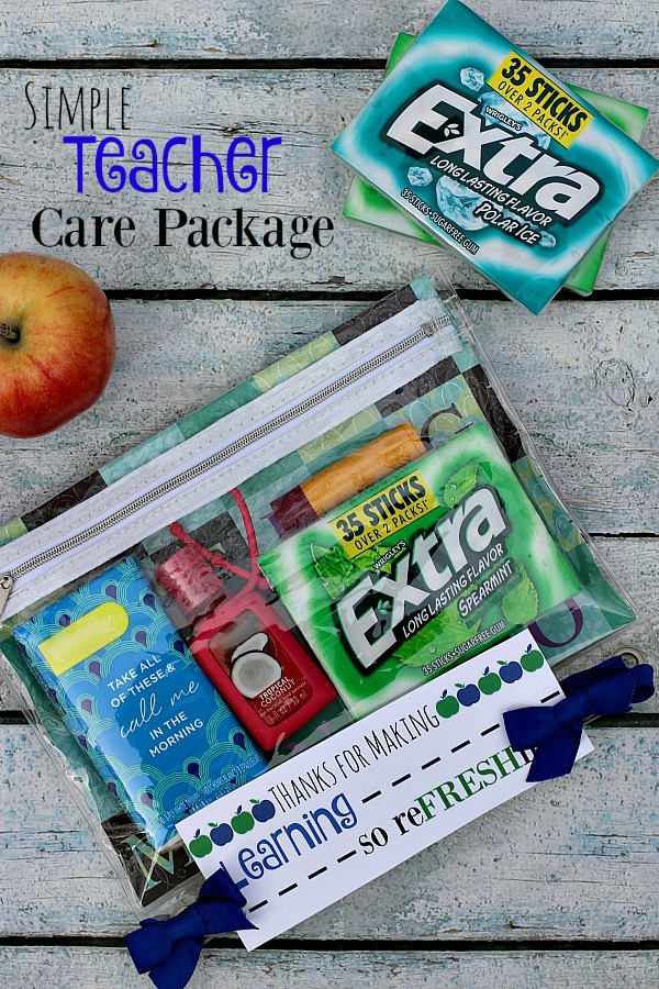 #GIVEEXTRAGETEXTRA #Walmart #ad Simple Teacher Care Package