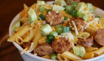 Southwest Chicken Sausage Pasta
