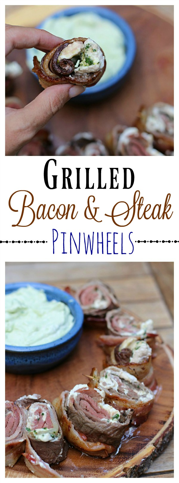 Grilled Bacon and Steak Pinwheels