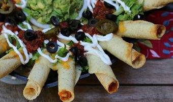 Loaded Skillet Taquitos
