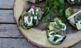 Grilled Steak Stuffed Avocados