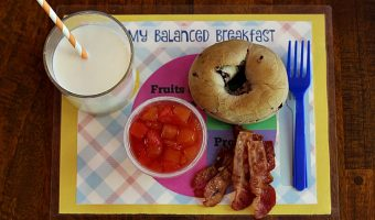 Teaching Kids About Nutrition with a DIY Balanced Breakfast Placemat Tutorial
