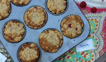 Raspberry Streusel Whole Wheat Muffins