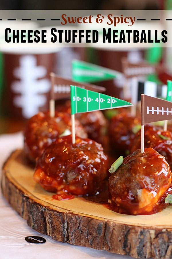 Ketchupwithfrenchs ad sweet and spicy cheese stuffed meatballs