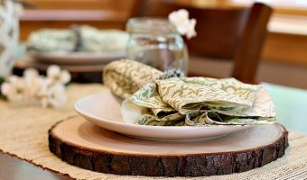 DIY Rustic Wooden Plate Chargers