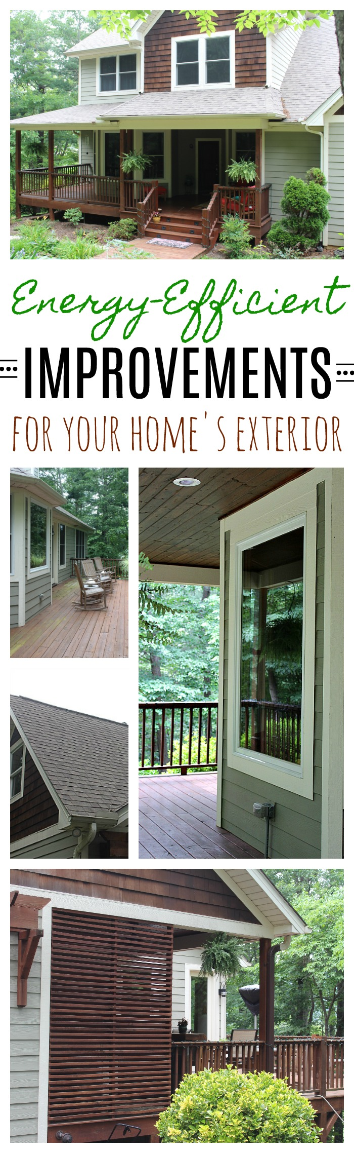 energy efficient improvements for your home's exterior - the