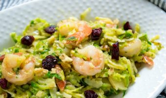 Shrimp & Brussel Sprouts Salad with Mango Sauce