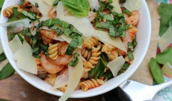 Shrimp and Spinach Rotini