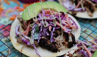 Pulled Pork Tostadas with Wasabi Slaw