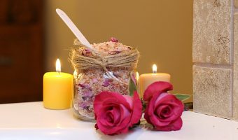 Chamomile-Rose Bath Salts & Tips for a Better Night's Sleep