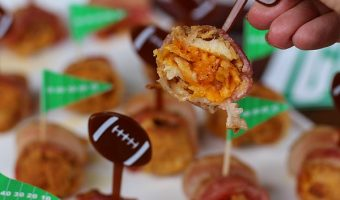Bacon Wrapped Chicken and Cheese Bombs